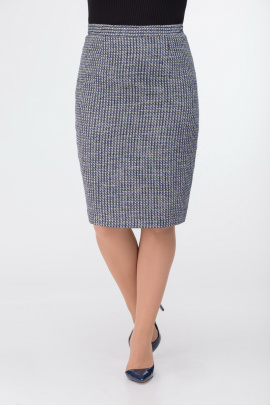 Юбка DaLi 3220.1 серый+синий