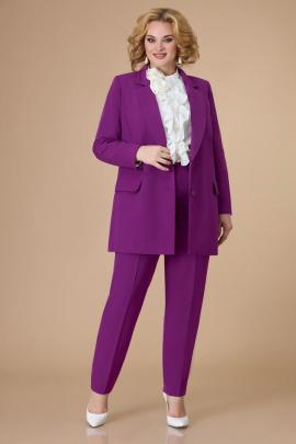 Брюки, Блуза, Жакет Svetlana-Style 1581 молочный+фиолетовый