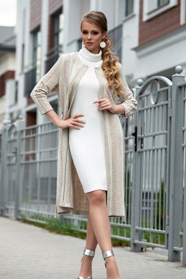 Кардиган, Платье Diva 1315 бежевый
