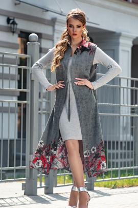 Платье, Жилет Diva 1324 серый