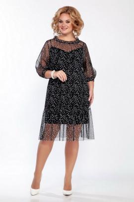 Платье LaKona 1402 черно-белый