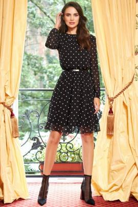 Платье AYZE 1363 чёрный/белый