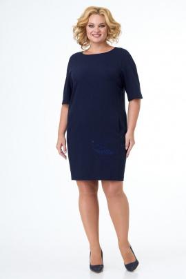Платье Anelli 351 синий