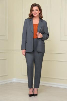 Женский костюм VOLNA 1205 серый-терракот