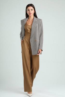 Женский костюм Viola Style 30500 гусиная_лапка_-_орех