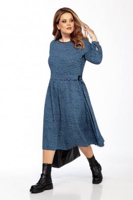 Платье Olegran 3791 темно-голубой