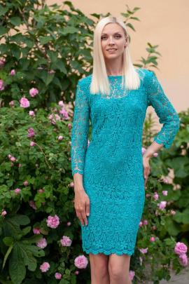 Платье Achosa 1201 бирюза