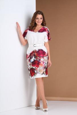 Платье Andrea Style 0396 белый
