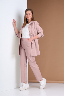Брюки, Рубашка Andrea Style 0386 розовый