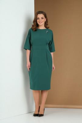 Платье Andrea Style 0383 зеленый