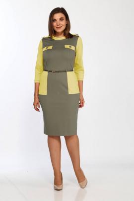 Платье Lady Style Classic 1750/2 хаки-желтый