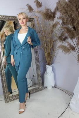 Женский костюм Стильная леди М-029 джинс
