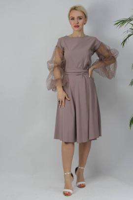 Платье Стильная леди М-154 капучино