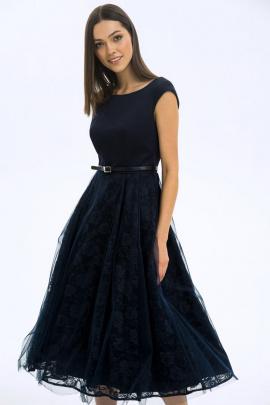 Платье LaVeLa L1851 темно-синий