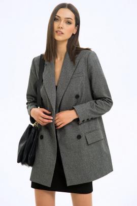 Жакет LaVeLa L30076 серый/темно-серый