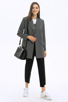Жакет LaVeLa L30076 серый/черный