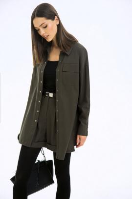 Рубашка LaVeLa L50131 темно-зеленый