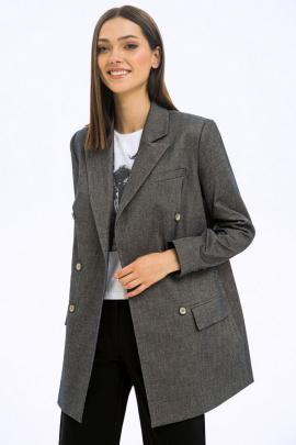 Жакет LaVeLa L30076 серый