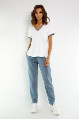 Брюки Kivviwear 4040 дымчатый-голубой