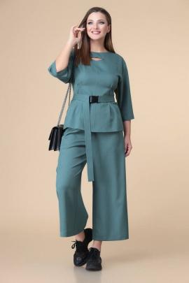 Блуза, Кюлоты Romanovich Style 2-2202 темная_бирюза