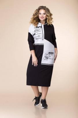 Платье Romanovich Style 1-2076 черный/серый