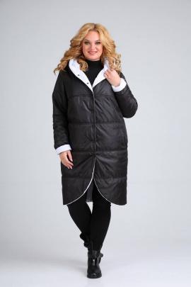 Пальто Diamant 1328 черно-белый