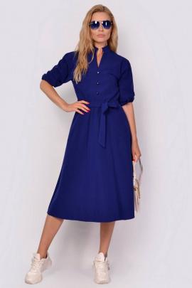 Платье PATRICIA by La Cafe F14909 королевский-синий