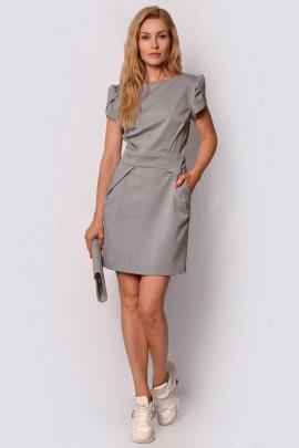Платье PATRICIA by La Cafe С15144 серый-меланж