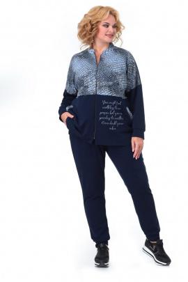 Спортивный костюм Мишель стиль 988 синий