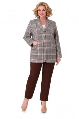Женский костюм Мишель стиль 973 бежево-коричневый