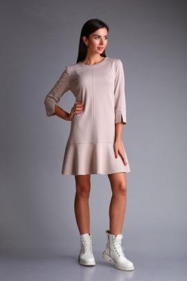 Платье Andrea Fashion AF-173 бежевый