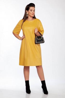 Платье INVITE 4037 горчица