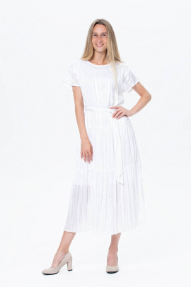 Платье BirizModa 21С0028 белый,серебристый