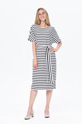 Платье BirizModa 21С0032 черный,белый