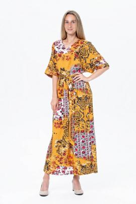 Платье BirizModa 21С0035 горчичный