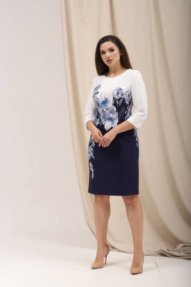 Платье Angelina 6502 голубые-цветы