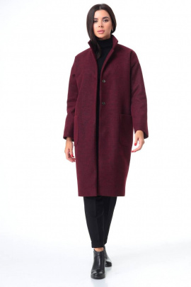 Пальто T&N 7087 бордо
