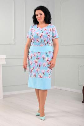 Женский костюм MadameRita 5153 голубой