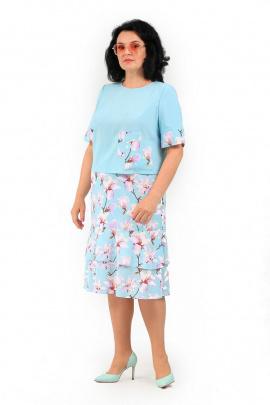Женский костюм MadameRita 5146 голубой