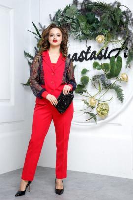 Женский костюм Anastasia 544/1 малиново-красный