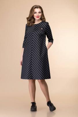 Платье Romanovich Style 1-1462 серый/черный