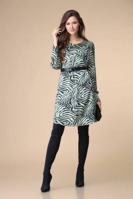 Платье Romanovich Style 1-2207 бирюза/черный