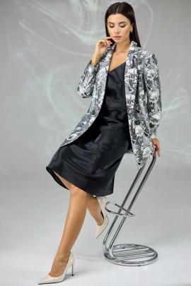 Жакет, Платье Angelina & Сompany 577ch черно-белый+черный