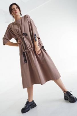 Платье MALI 421-057 кофе