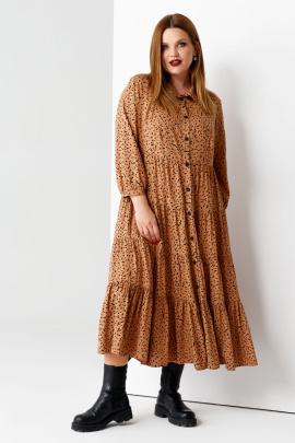 Платье Панда 58980z бежевый