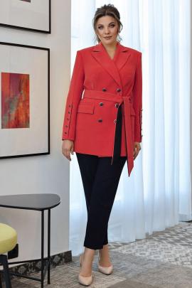 Женский костюм Мода Юрс 2701 красный_темно-синий