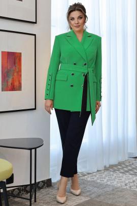 Женский костюм Мода Юрс 2701 зеленый_темно-синий