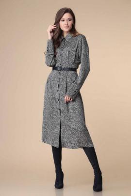 Платье Romanovich Style 1-2210 черный/беж