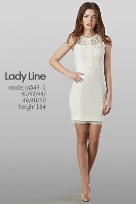 Платье Lady Line 349-1 белый
