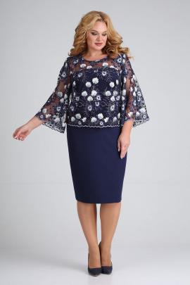 Платье ELGA 01-670 синий_дизайн